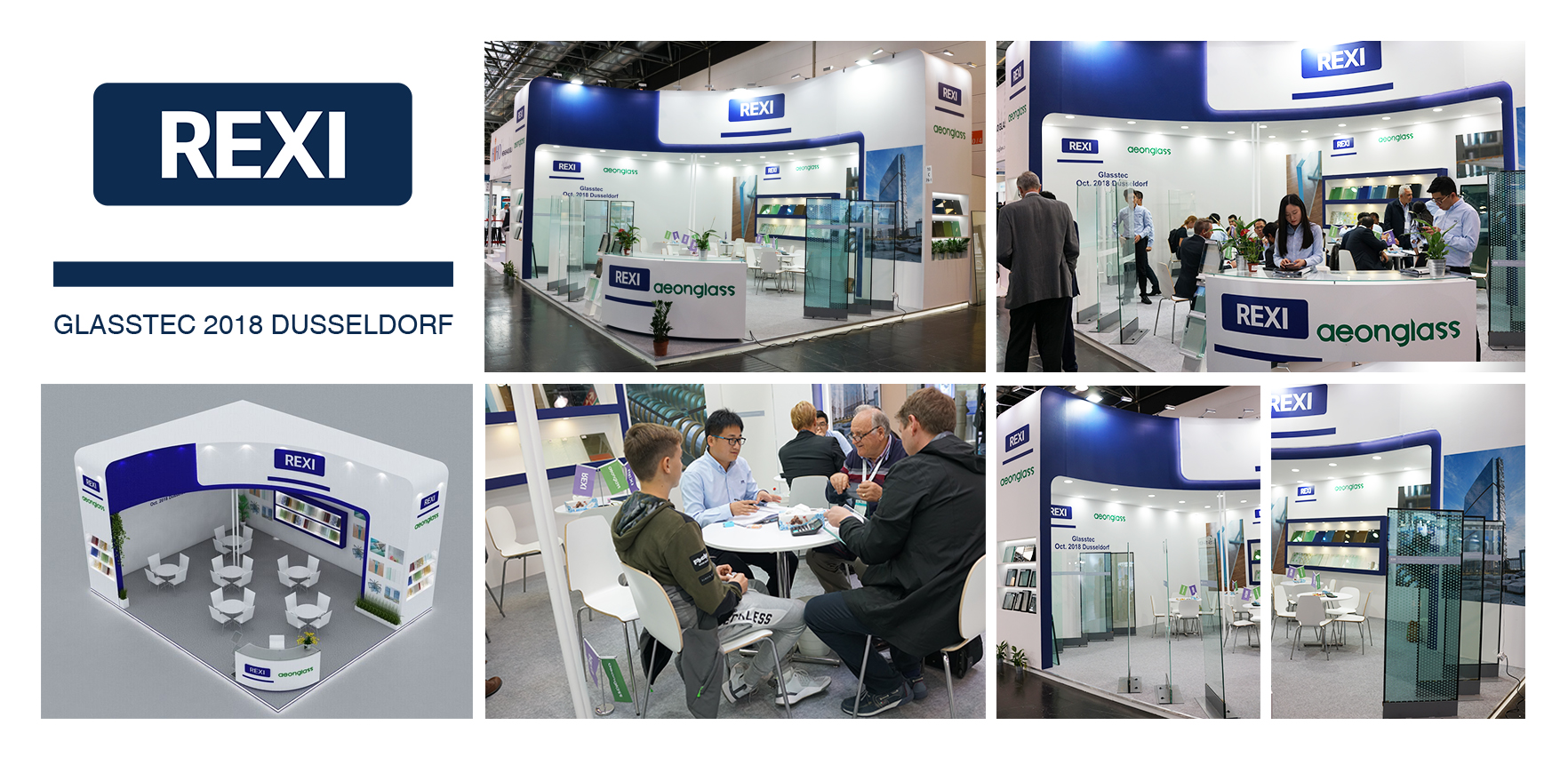 REXI Participated in the 25th German Düsseldorf GlassTec